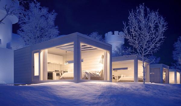住宿凱米玻璃屋酒店或同級,躺臥在溫暖的玻璃小屋內,靜候遇上夢幻極光。