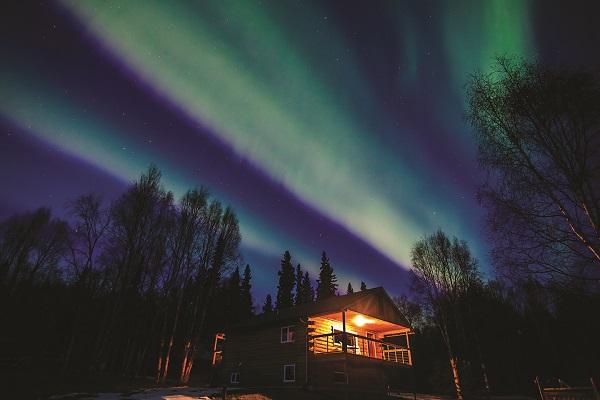 極光觀測小木屋