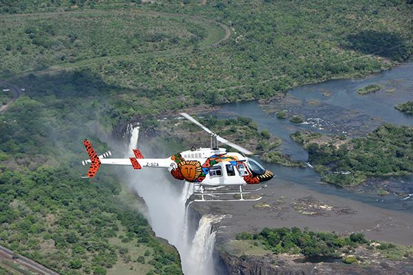 直升機觀賞大瀑布