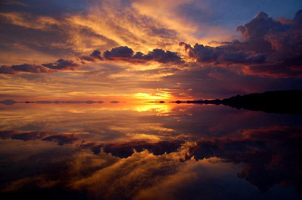 鹽湖黃昏日落之旅