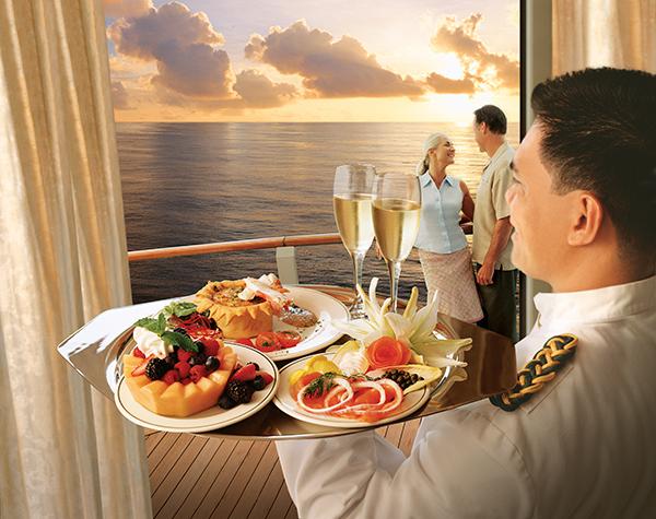 船上露台用餐